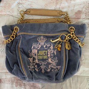 Velour juicy couture purse